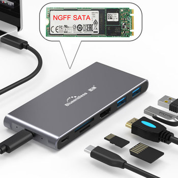 USB Tipo C 3.1 Splitter 3 Port USB C HUB su Multi USB 3.0 HDMI Adapteris, skirtas